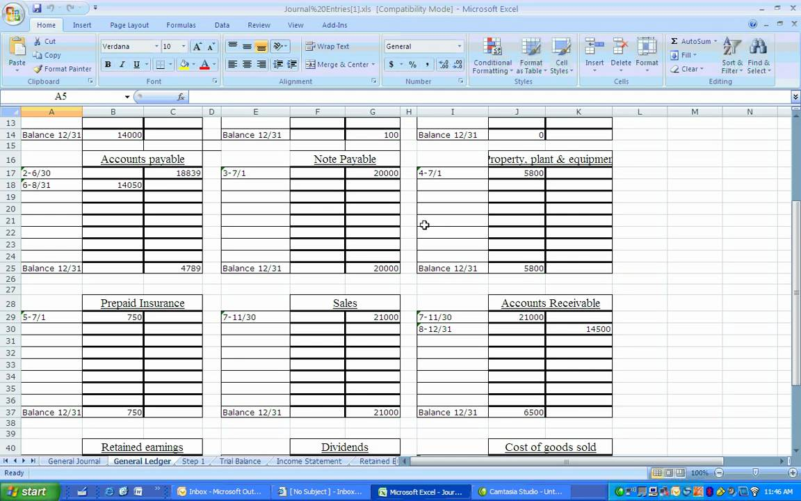 Financial Accounting Journal Entries with downloadable