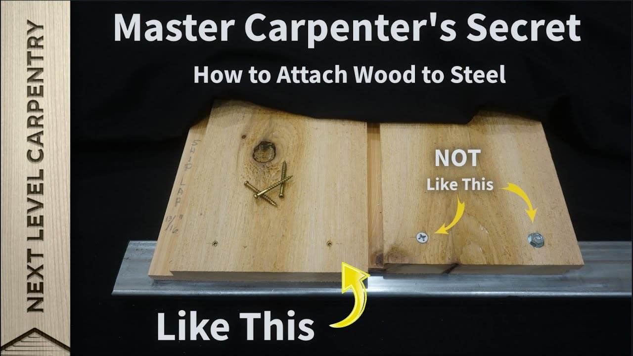 How to Attach Wood to Steel