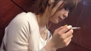Lovely girl smoking Japanese