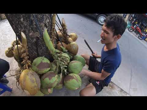 Indonesia Tangerang Street Food 2846 Part.1 Es Kelapa Langsung Dari PohonYDXJ0148