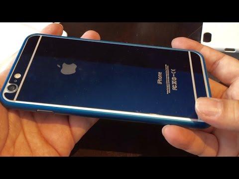 Blue Anodized Aluminum Metal Bumper Case for iPhone 6 Plus
