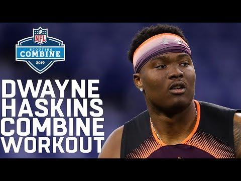 Dwayne Haskins Combine Workout   2019 NFL Scouting Combine Highlights