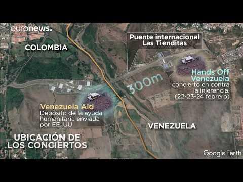 euronews (en español): Batalla de conciertos en la frontera de Cúcuta: Aid Venezuela y Hands Off Venezuela