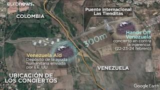 Batalla de conciertos en la frontera de Cúcuta: Aid Venezuela y Hands Off Venezuela
