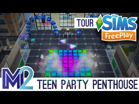 Sims FreePlay - Teen Party Penthouse Apartment (Original Design)