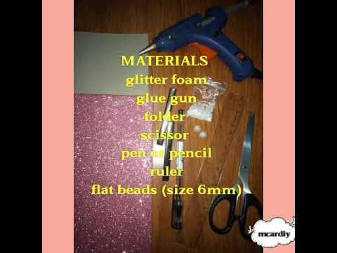 Diy glitter bow hair clip