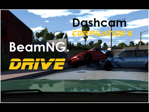 BeamNG. Drive - Dashcam Crashes Compilation 8 [Real Voices]