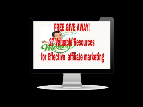 Free 27 Valuable Resources for Effective Affiliate Marketing Guide