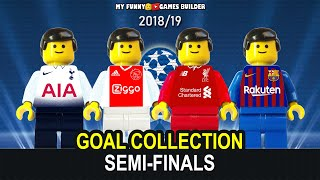 Champions League Semi-Finals 2019 Goals Collections in LEGO Football Stop Motion