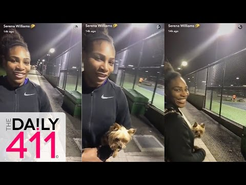 Serena Williams Plays A Game Of Tennis With Lucky Fans, Who would you guys wanna hit with?