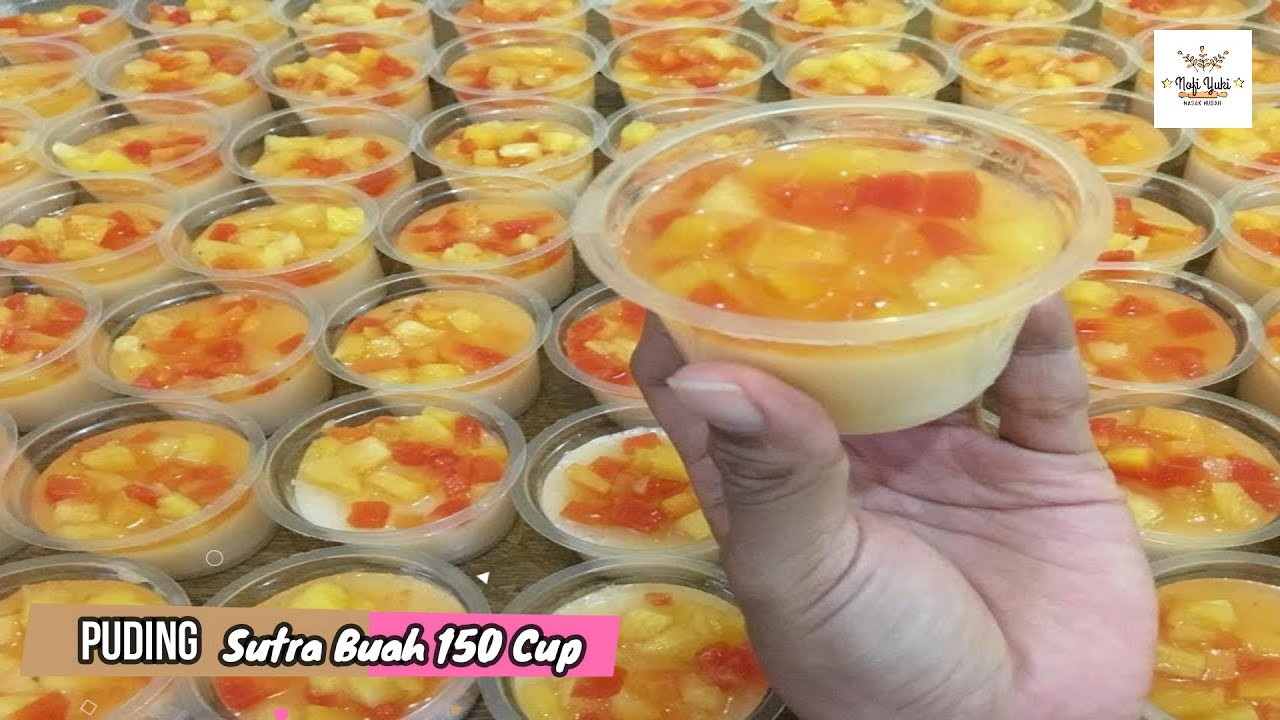 Puding Sutra Buah Untuk 150 Cup Puding Nikahan 10 Youtube Ide Makanan Makanan Penutup Makanan Penutup Mini