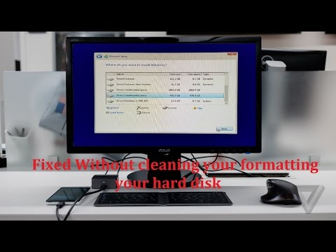 Windows Cannot Be  Installed On Drive Fix Without Cleaning Or Formatting Hard Disk 100% Working