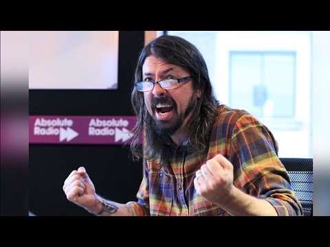 Dave Grohl reads the travel news on Absolute Radio