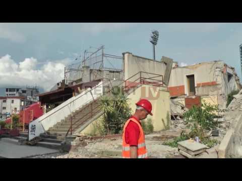 Report TV - Nis prishja e stadiumit Qemal  Stafa, vendi gati për