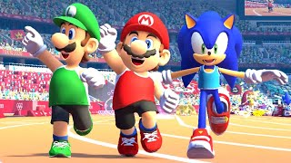 Mario and Sonic at the Olympic Games Tokyo 2020 - 100m (All Characters)