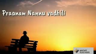 pranam nannu vadili ||True love whatsapp status||