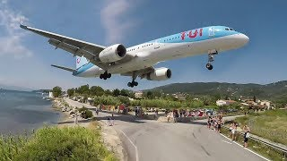 BOEING 757 vs. WOMAN - Dangerous JETBLAST at SKIATHOS