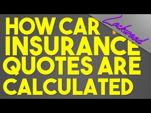 How Car Insurance is Worked Out/Calculated! FUNNY