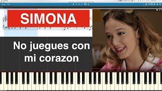 SIMONA - No juegues con mi corazon - Piano Cover Midi Tutorial Sheet