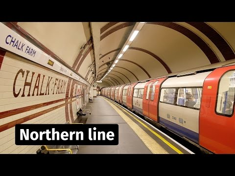 London Underground: Northern line trains at Chalk Farm