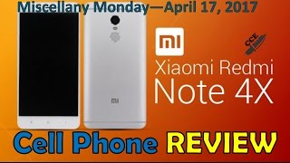 Review of the Xiaomi Redmi Note 4X  Smartphone.  International Edition with 3GB RAM & 32GB ROM