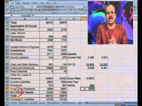 Mod-16 Lec-38 Financial Statements Analysis Advanced