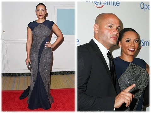 Mel B showcases her killer curves in a figure hugging backless gown as she puts on a glamorous displ