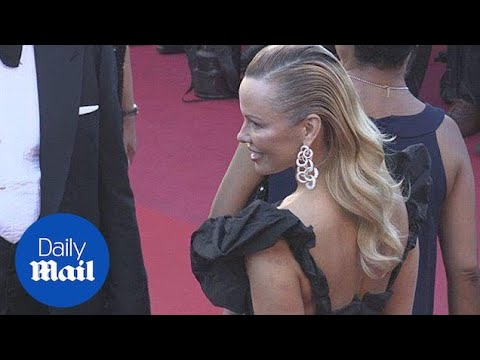 Pamela Anderson looks stylish on the Cannes red carpet - Daily Mail