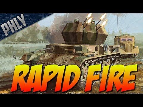 War Thunder - RAPID FIRE - AA VS AA Event Mode! War Thunder Wirbelwind Gameplay
