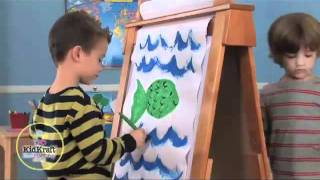 Kidkraft Adjustable Wooden Easel  62008