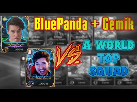 BluePanda AND Gemik - Team Ranked VS Top European Squad - Mobile Legends