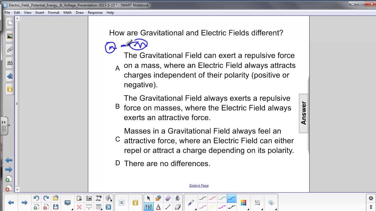 E-field, PE, & Volt. - Electric Field relationship to Gravitational ...