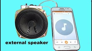 Haw to make  external bass music speaker at home for mobile and laptop