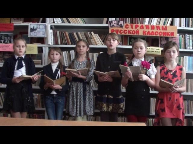 Изображение предпросмотра прочтения – «Учащиеся 5-Б класса Ясеновской гимназии» читает произведение «Бородино» М.Ю.Лермонтова