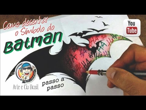 Como Desenhar O Simbolo Do Batman Estilo Tatoo Passo A Passo Youtube