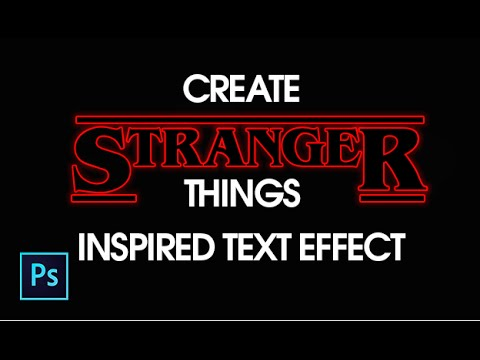 how to create strangers things text