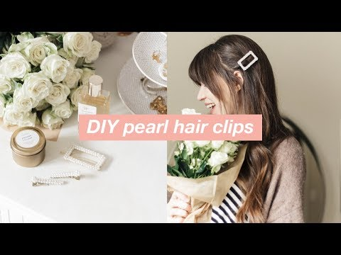 DIY Pearl Hair Clips: Pearl Hair Accessories (Trend for Spring 2019!)