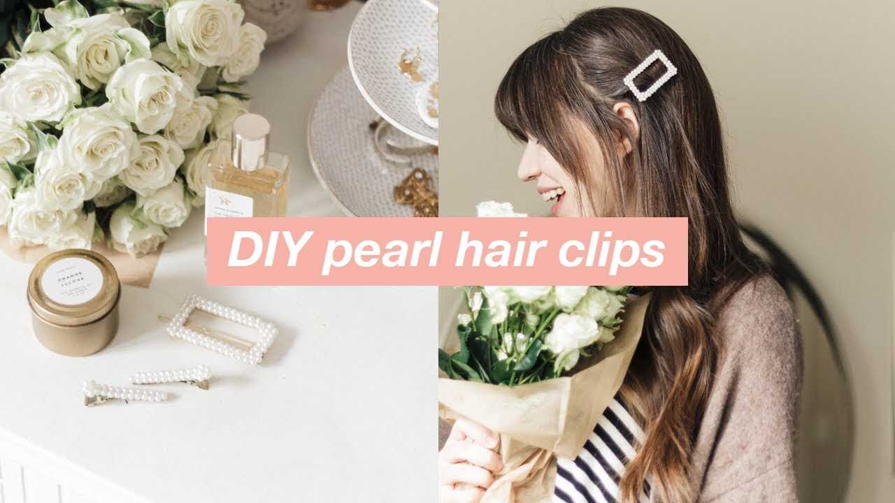 4c1da6d67c713 DIY Pearl Hair Clips: Pearl Hair Accessories (Trend for Spring 2019 ...