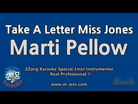 Marti Pellow-Take A Letter Miss Jones (1 Minute Instrumental) [ZZang KARAOKE]