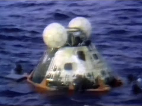 APOLLO 13 SPLASHDOWN AND RECOVERY - NASA TV Transmission