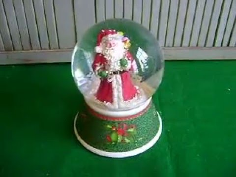 SPODE~CHRISTMAS TREE~SANTA~LIMITED EDITION~MUSICAL SNOW GLOBE~SNOW DOME~2011