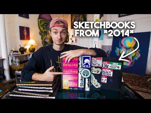 My OLDEST Sketchbooks   Sketchbook Flipthrough