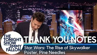 Thank You Notes: Star Wars: The Rise of Skywalker Poster, Pine Needles
