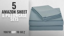 Top 10 Amazon Sheet & Pillowcase Sets [2018]: AmazonBasics Microfiber Sheet Set - Queen, Spa Blue