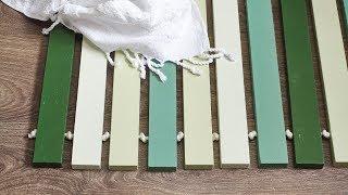How to make a wood-slatted bath mat