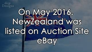 New Zealand put up for sale on ebay   Quick Funny Interesting Facts