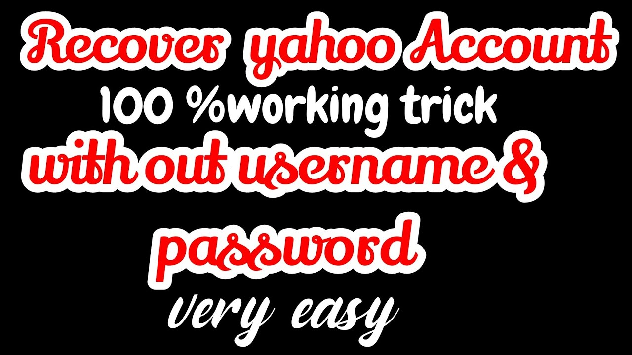 Download How to Recover Yahoo Password without Recovery Email ID and Phone Number  Reset Yahoo mail Password