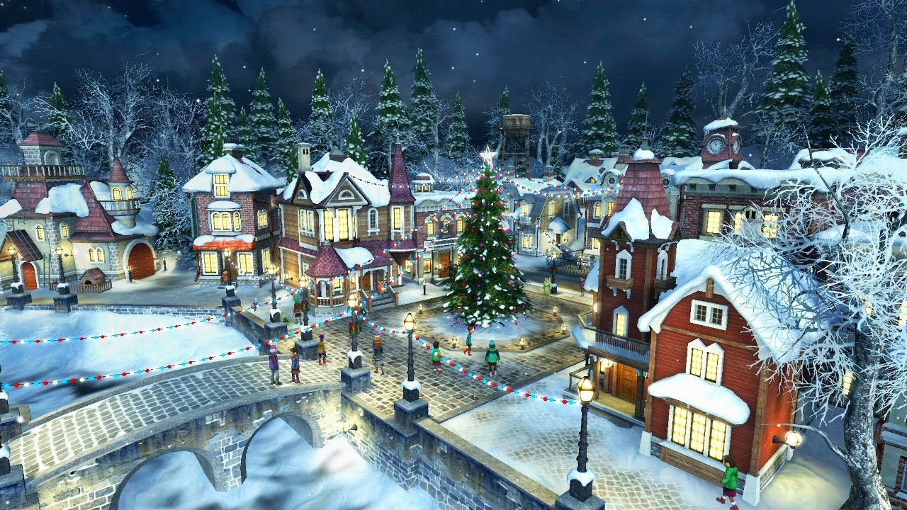 Live 3d Wallpaper Snowing Snow Village 3d Screensaver Amp Live Wallpaper Hd Youtube