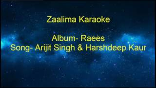 Zaalima Full song Karaoke from Raees