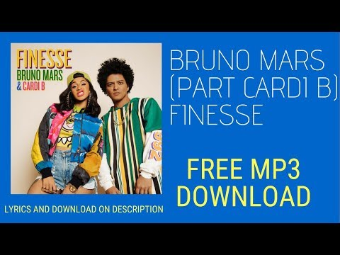 Bruno Mars Finesse Remix Feat Cardi B (AUDIO) MP3 Free Download
